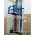 hydraulic platform lift/goods vertical hydraulic guide rail lift freight elevator