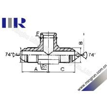 Métrique / NPT / Métrique Adaptateur de tube hydraulique pour adaptateur en T mâle (AQNQ)