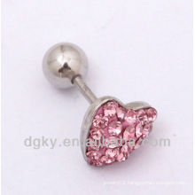 Women heart shape earring studs, Ear stud cartilage earrings