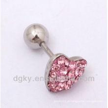 Mulheres coração brincos forma brinco, Ear brincos cartilagem stud