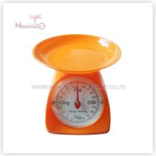 Échelle de cuisine mécanique en plastique de vente chaude de 2kg (13.5 * 17.8 * 15.5cm)