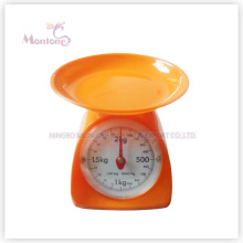 2kg Hot Sale Plastic Mechanical Kitchen Scale (13.5*17.8*15.5cm)