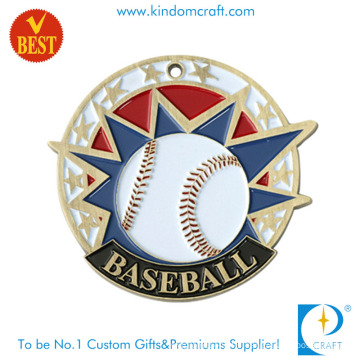 China Custom Baking Varnished Copper Stamping Baseball Medal in High Quality