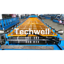Hydraulic cutting Trapezoidal Roof Deck Roofing Sheet Making Machine TW38-200-1000