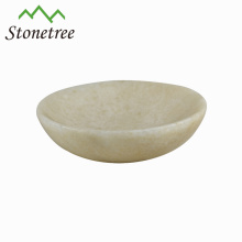 Venda quente New Atacado Branco Natural Pedra Oval Prato Mármore Tigela