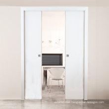 Modern European and American Indoor Wood Pocket Door