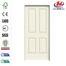 28 in. x 80 in. Smooth 4-Panel Painted Molded Single Prehung Interior Door