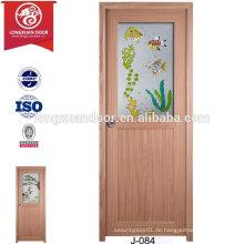 China billige benutzerdefinierte wasserdichte Kunststoff matt Glas Türen für WC oder Bad oder Küche