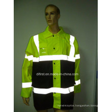 High Visibility Reflective Safety Parka for Oxford Waterproof