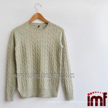 Итальянский свитер для кашемирового кабеля
