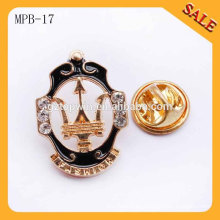 MPB17 insignia promocional de encargo al por mayor del perno de la solapa del esmalte de la insignia del metal del regalo