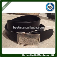 casual genuine leather belt with smooth cowboy embossed alloy accessories for jeans/ cinto de couro para homens