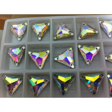 Triangle Ab Color Sewing Stone Beads Buttons