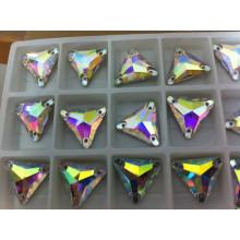 Triângulo Ab Color Sewing Stone Beads Botões