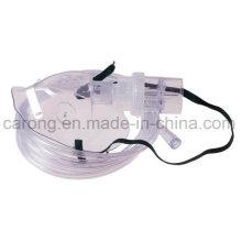 Máscara médica de oxígeno con nebulizador