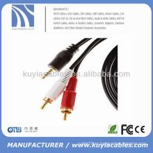 Cable de audio estéreo 3.5mm macho a 2rca macho mono a cable estéreo 3Meter