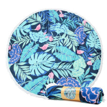 China for Round Beach Towel Stock Lots Reactive Printed Bespoke Design Beach Towel supply to Andorra Factory