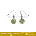 Clous d'oreilles Shamballa AAA CZ Stone Crystal Paved Hook