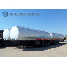 4 Axls 56 M3 Carbon Steel Fuel Oil Tank Semi Trailer / Tank Trailer and Fuel Trailer with 5 Compartments