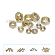 Compression fitting brass forged female hex nut Fastener-Round Brass Nuts From China