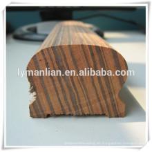 Pasamanos de roble rojo de madera de ébano.