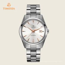 Relógios de pulso de aço inoxidável automáticos Men72004 do caso do relógio impermeável 50ATM
