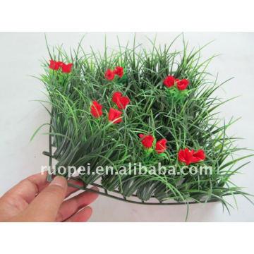 Tapis artificiel d'herbe pour la décoration de jardin, haie en plastique
