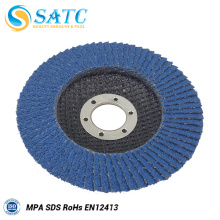 "Shanghai abrasivo 4 1/2 ""x 7/8"" 115 * 22 mm Flat 80 Grit Zirconia Flap Disc"