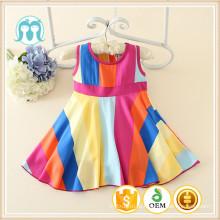 Roupa de férias Wholesal Beach Wear Mais Recente Design Casual Girl Dress Party Fantasia Crianças Menina Vestido