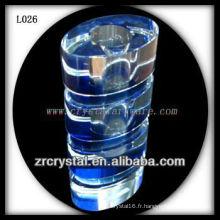 Beau vase en cristal L026