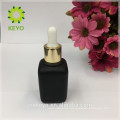 15ml 30ml 50ml Hot sale high quality frosted black colored empty cosmetic packing glass dropper bottle