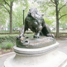 2018 vente chaude Grande cour de bronze géant permanent lion statue royale