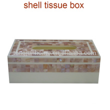 Fashion fashion natural freshwater shell white household tissue box car tissue paper towel tube pumping