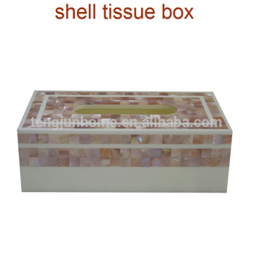 Fashion fashion natural freshwater shell white household tissue box car tissue paper towel tube pumping