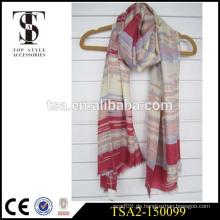 2016 neue Ankunftsnebelbootsinselgewohnheit gedruckte silk Schals Digitaldrucken silk Schals