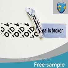 La nueva calidad elegante de moda aseguró etiquetas engomadas del sello de la seguridad modificadas para requisitos particulares