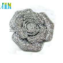 Encanto cristal rhinestone decoración plana espalda grande flor 72mm