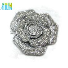 Charm cristal strass décoration dos plat grande fleur 72mm