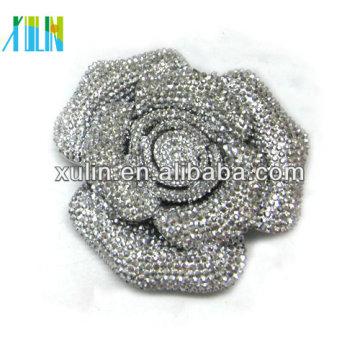 Charme Kristall Strass Dekoration flache Rückseite große Blume 72mm