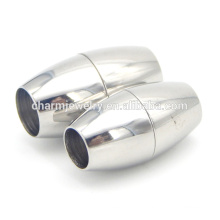 BX012 ювелирные изделия Поиск нержавеющей стали Магнитный шнур Застежка - Элегантный круглый дизайн - Подходит 6/7 мм шнур