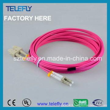 Câble de cordon de correction Sc-LC Om4