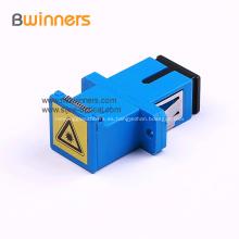 Sc / Apc SC / PC Adaptador de fibra óptica con obturador