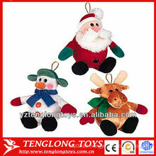Kleine und niedliche billige verschiedene Tiere Weihnachten Plüschtiere für Weihnachtsbaum Dekoration