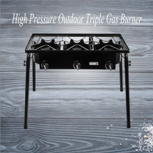 High pressure three burner stove