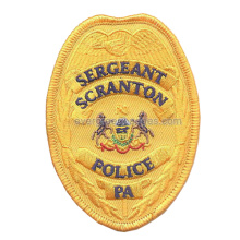Sergeant Police Yellow Fabric Embroidery Badges