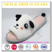 Character animal design open toe terry adult slipper