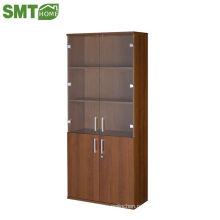 Большой книжный шкаф из дерева с 2 дверями горячей продажи по низкой цене