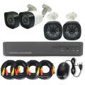 4CH Standalone  CCTV DVR Kit DIY Security Camera Kit Coax Transmission