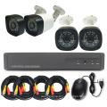 Transmissão coaxial autônoma do jogo da câmara de segurança do jogo do CCTV DVR de 4CH DIY