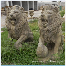 2017 New Design Antique Marble Animal Statue Lion Statue